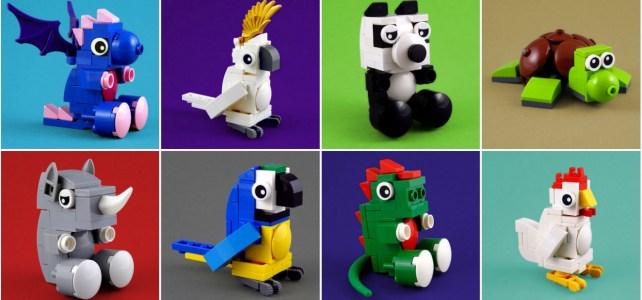 Mini peluches version LEGO