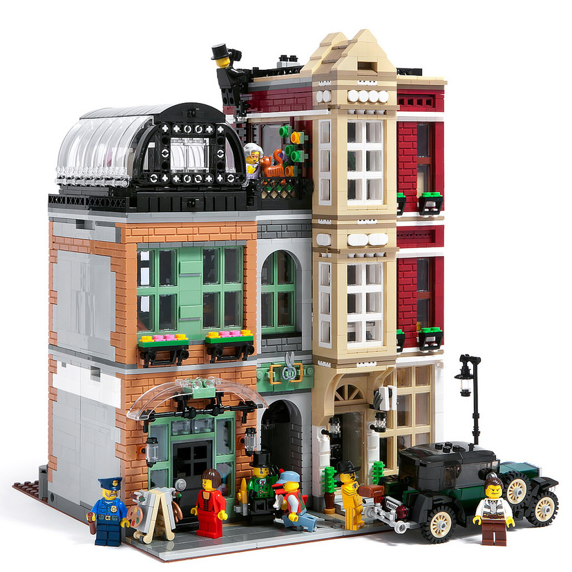 lego modular bootblack street il a tout d 39 un vrai hellobricks blog lego. Black Bedroom Furniture Sets. Home Design Ideas