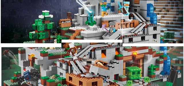 LEGO Minecraft 21137 The Mountain Cave : le visuel complet du plus gros set LEGO Minecraft