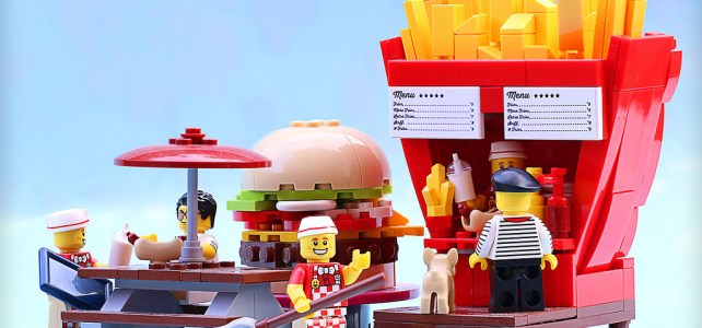 LEGO frites ketchup mayo