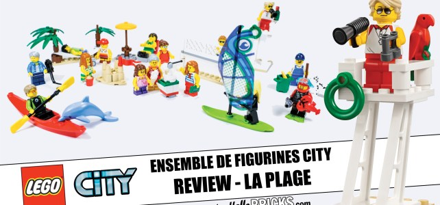 REVIEW LEGO 60153 Fun at the Beach : les minifigs à la plage