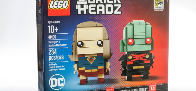 SDCC 2017 LEGO BrickHeadz 41496 Supergirl & Martian Manhunter