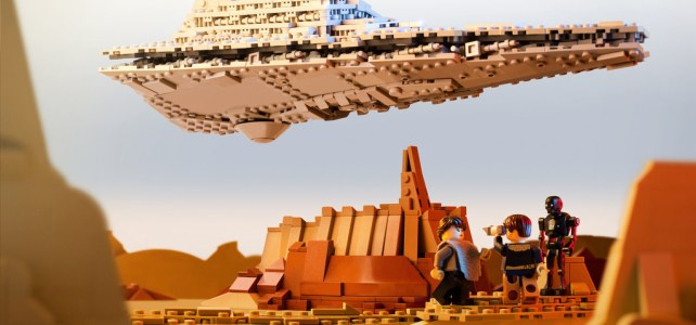 Star Wars Rogue One : l'Imperial Star Destroyer au dessus de la cité de Jedha