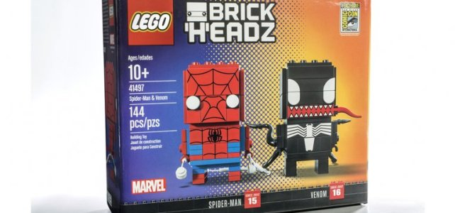 SDCC 2017 : un duo exclusif LEGO BrickHeadz Marvel Spider-Man & Venom