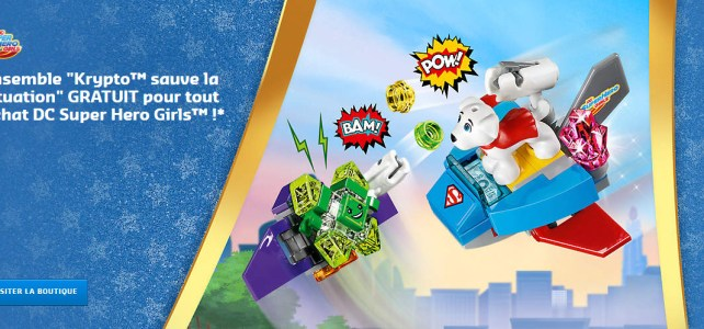 Offre surprise : le polybag DC Super Hero Girls LEGO 30546 Krypto saves the day
