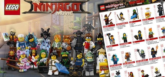 Minifigs à collectionner LEGO Ninjago Movie (71019) guide de tâtage