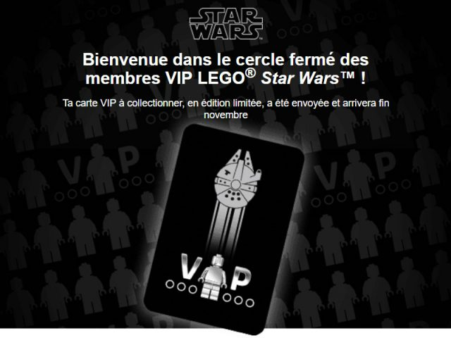LEGO VIP Star Wars black card