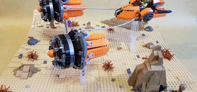 Podracer Star Wars et séparateurs de briques