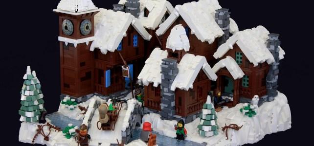 Un village sous la neige