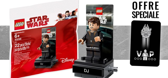 Black Card VIP polybag LEGO Star Wars 40298 DJ offert