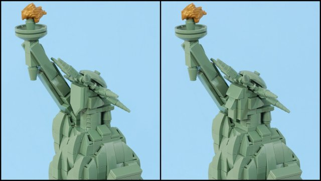 LEGO Architecture 21042 Statue of Liberty facelift