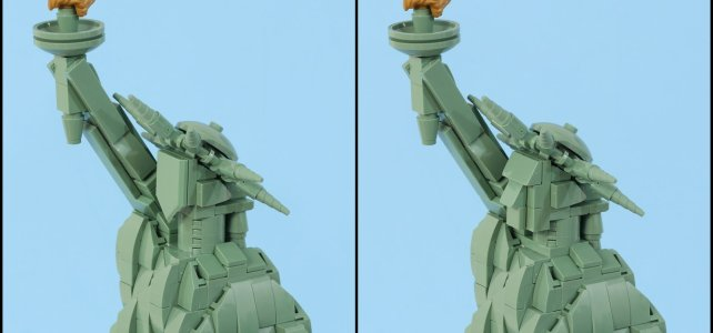 LEGO Architecture 21042 Statue of Liberty : une solution alternative pour le visage
