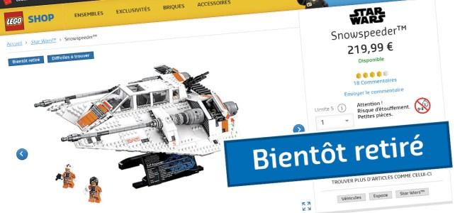 LEGO Star Wars 75144 Snowspeeder UCS stop
