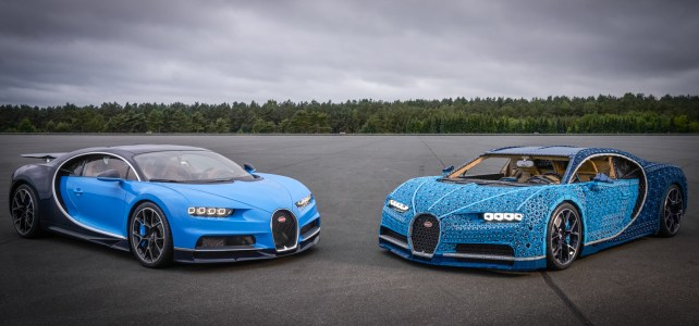 Une Bugatti Chiron en LEGO Technic taille réelle, sans colle, et qui roule !