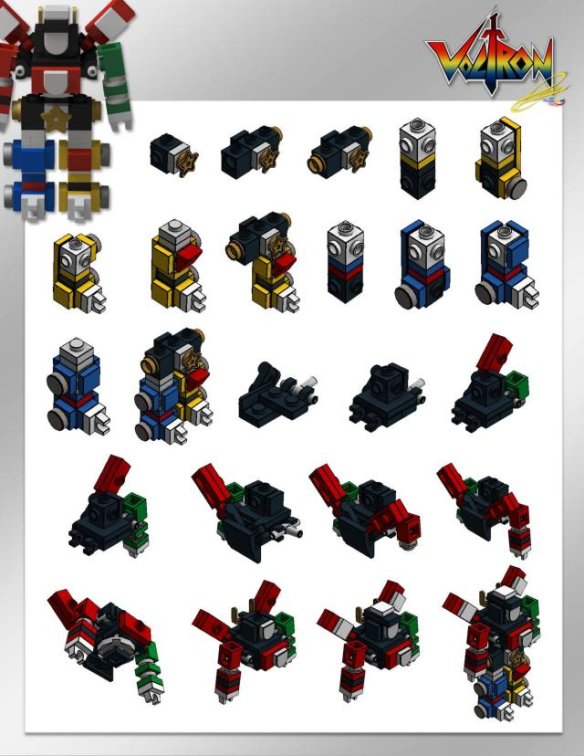 Micro LEGO Voltron instructions