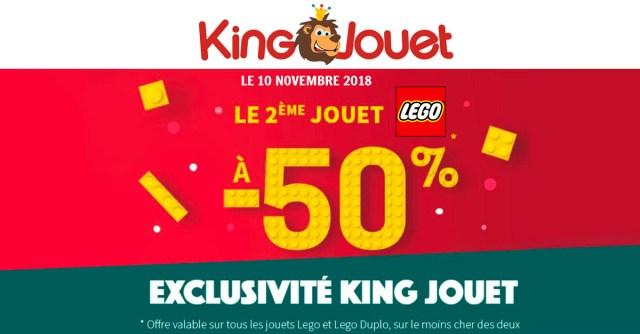 King Jouet promo LEGO -50