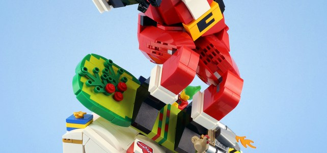 LEGO Santa Snowboard Xmas