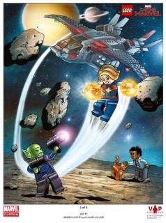 Tirage d'art LEGO Marvel