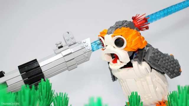 LEGO Porg sabre laser