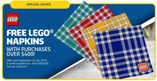 Free LEGO Napkins 5005630