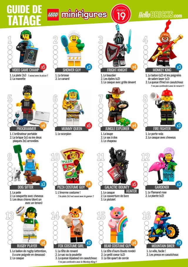 LEGO 71025 Guide Tatage serie 19