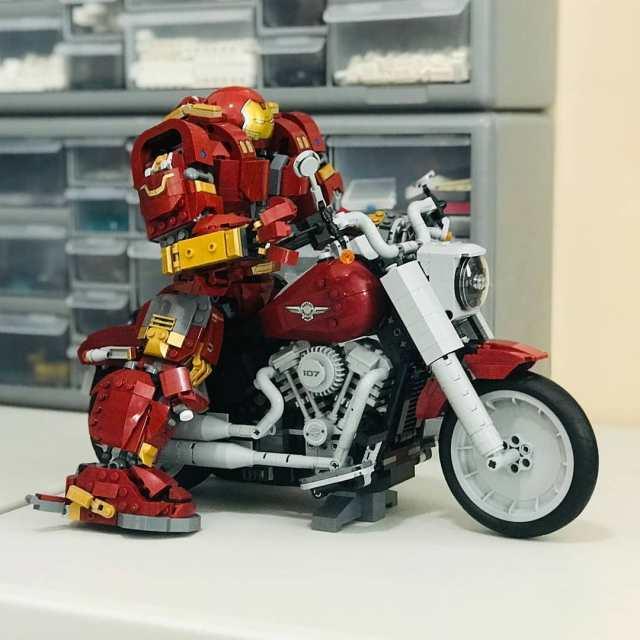 LEGO Harley Buster Iron Fat Boy