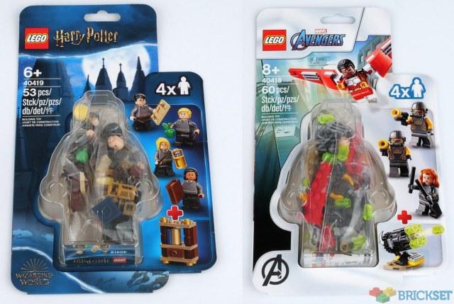 Nouveautés LEGO 40418 Falcon & Black Widow et 40419 Hogwarts Students