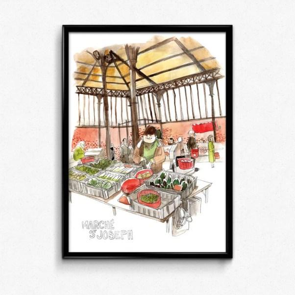affiche marché st joseph clermont-ferrand