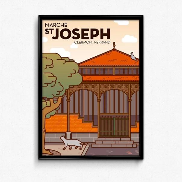 Affiche marché st joseph à clermont-ferrand