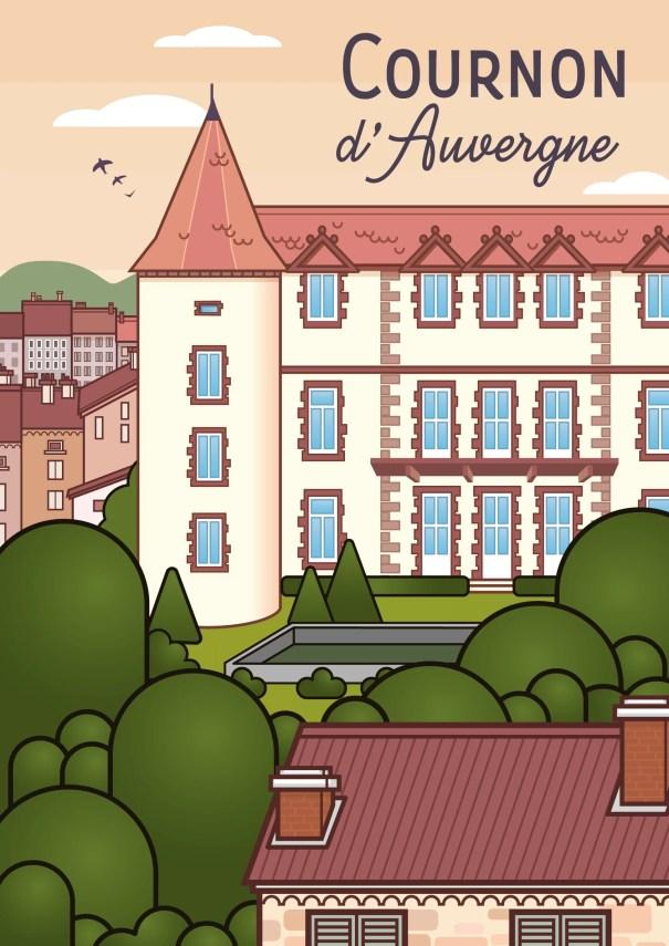 Affiche Cournon d'Auvergne Mairie