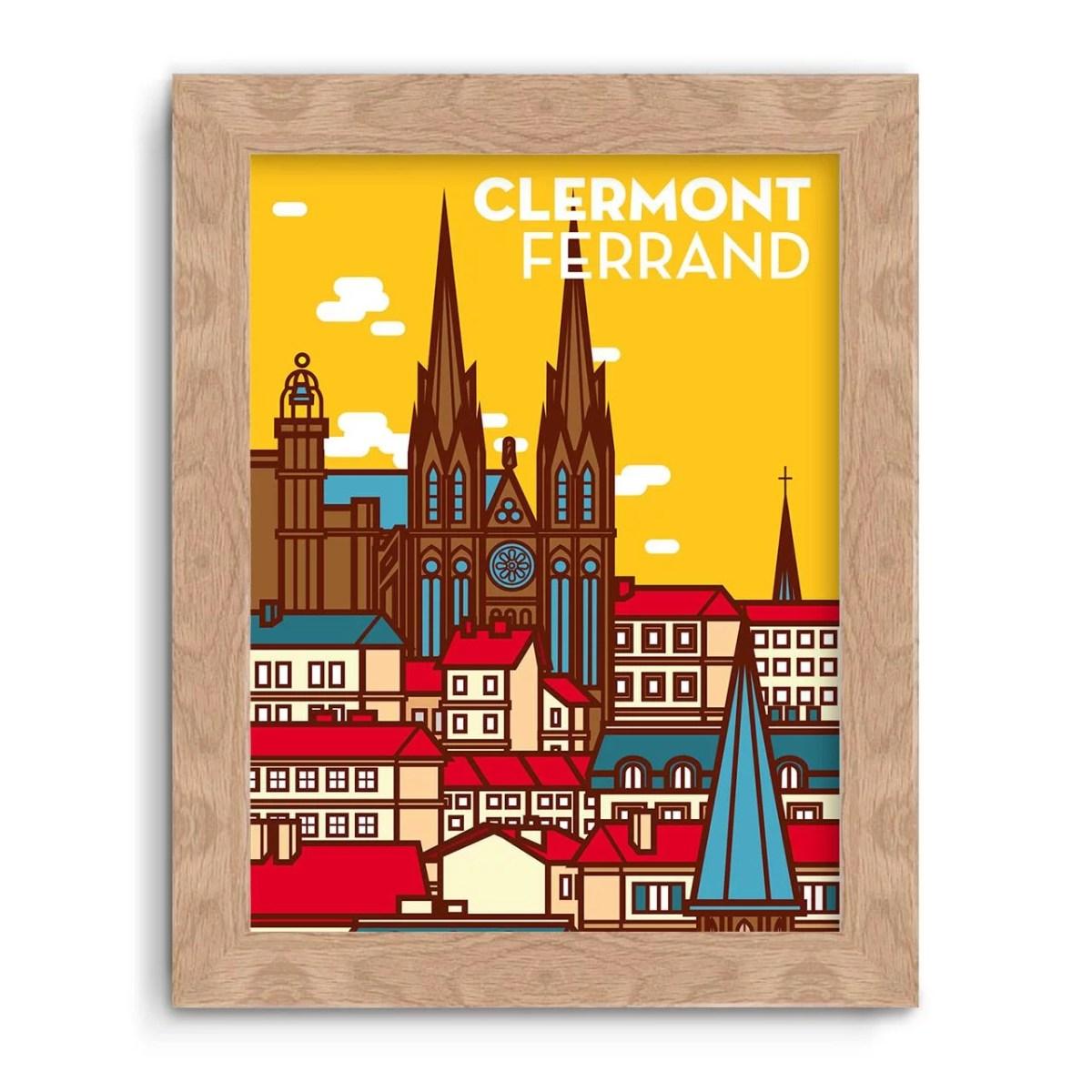 illustration affiche clermont-ferrand