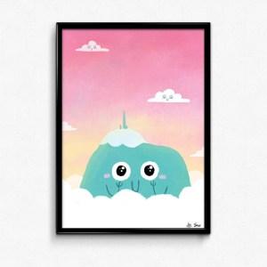 affiche Puy de Dôme mignon par Sow Ay