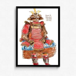 aquarelle samouraï