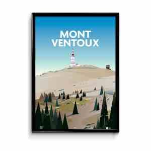 affiche illustrée mon ventaoux dans le vaucluse