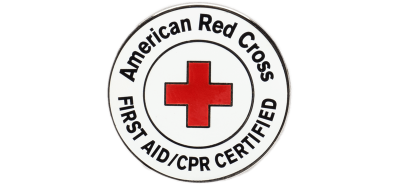 American Red Cross First Aid/CPR Certified Badge