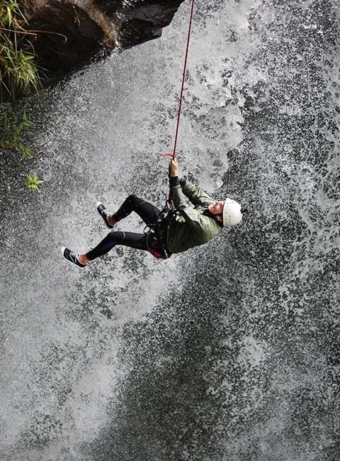 banos Waterfall canyoning