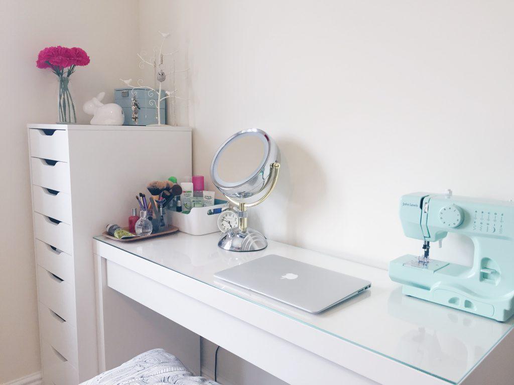 Make up and desk space  Hello Deborah