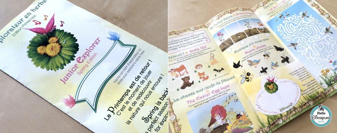 dépliant petit explorateur enfant -Disneyland Paris