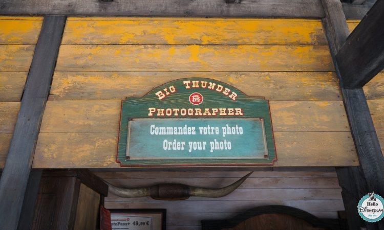 Big Thunder Photographer - photo attraction train de la mine