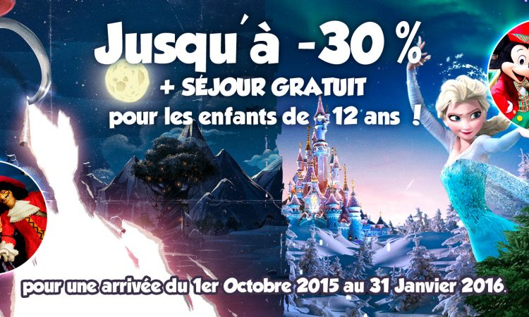 promotions 2015 Noel et Halloween disneyland Paris
