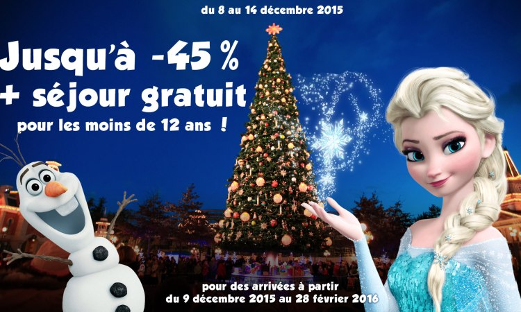 vente flash promo noel 2015 disneyland paris