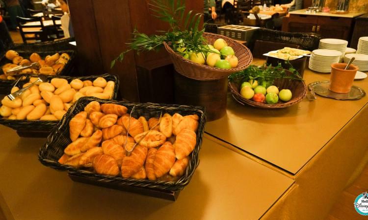 petit déjeuner standard du Sequoia Lodge