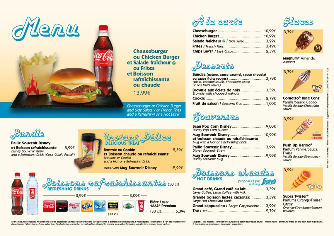 Food Truck Disney Village - Menus Printemps 2016- Disneyland Paris-7