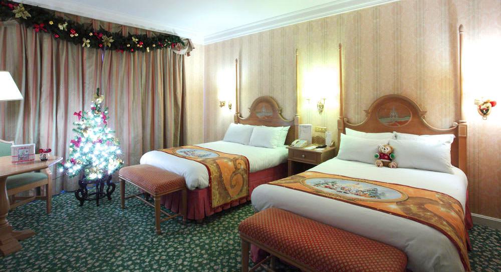 Chambre décoré hôtel Disneyland Paris Noël