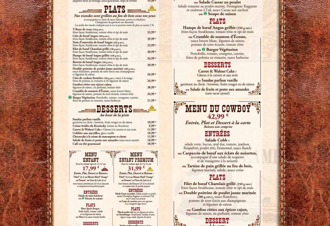 silver spur steakhouse menu 2017
