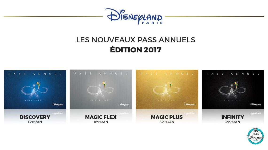 prix nouveau-pass-annuel-disneyland-paris-2017