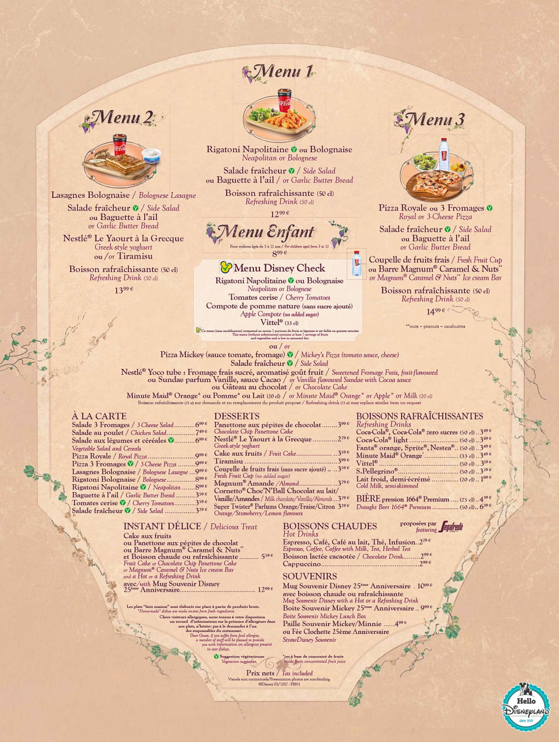 Disneyland-Paris-Restaurant-Menus-2017-Bella-Notte