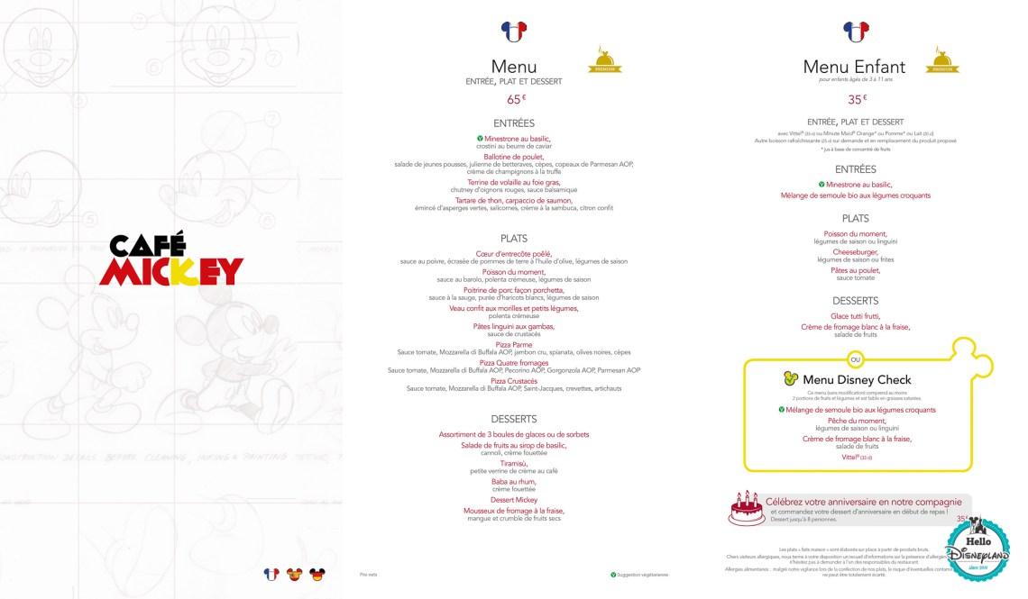 Prix Cafe Disneyland Paris