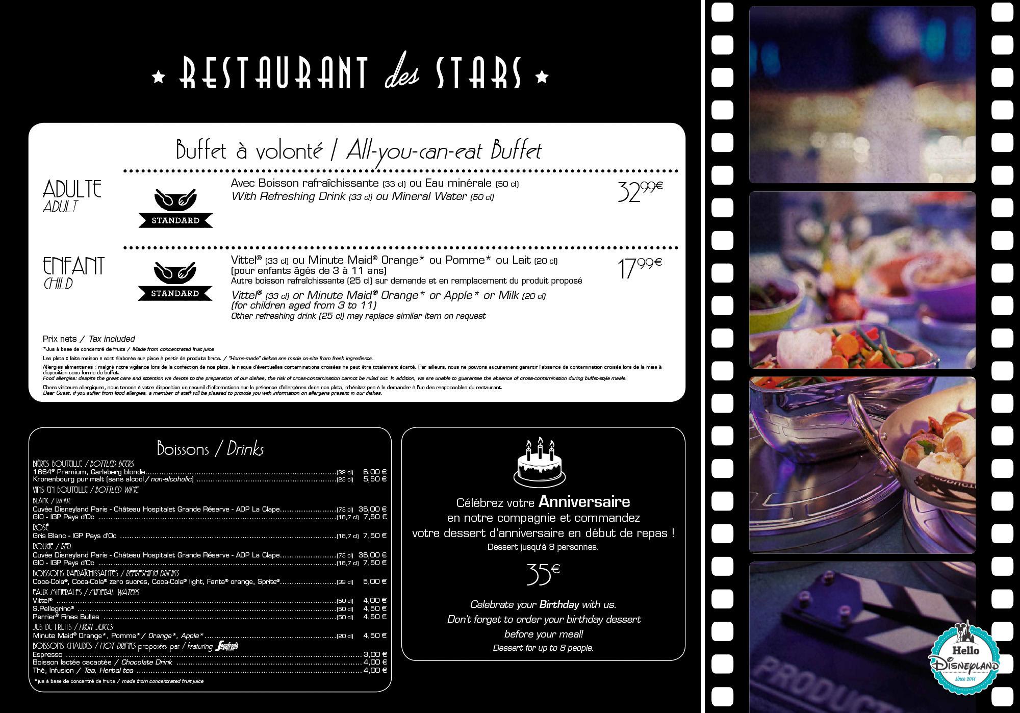 disney restaurant des stars