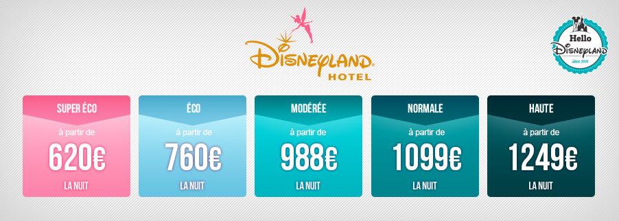 Tarifs nuits seches Disneyland Paris 2018 - Disneyland Hotel